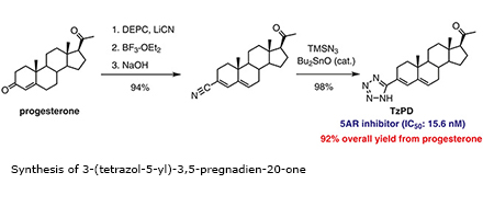 Synthesis of 3-(tetrazol-5-yl)-3,5-pregnadien-20-one