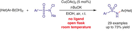 Rylan Lundgren describes the copper-catalyzed synthesis of N-arylsulfonamides.