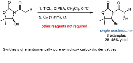 Synthesis of enantiomerically pure α-hydroxy carboxylic derivatives