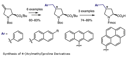 Synthesis of 4-(Arylmethyl)proline Derivatives