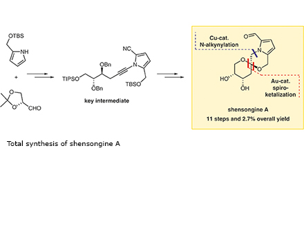 Total synthesis of shensongine A